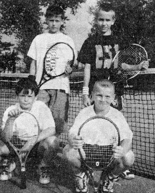 Bezirksliga Meister Bambini 1999 v. l. Dirk Zschiesche, Paul Hirschfeld, Daniel Wenner, Robert Müller